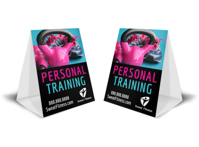 Personal Training Promo Table Tent Template isjstwwjxn preview
