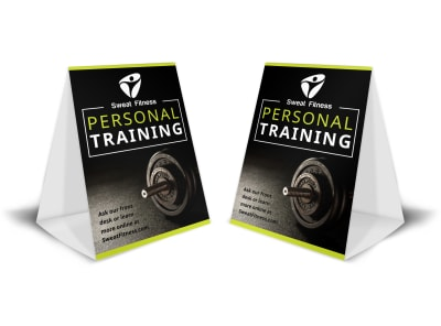 Personal Training Promo Table Tent Template 6jvp9rln4n preview