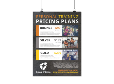 Personal Training Pricing Plan Poster Template 7508lt4pao preview