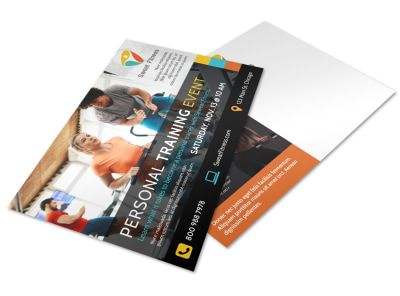 Person Training Event Postcard Template qbe7eh5pjk preview