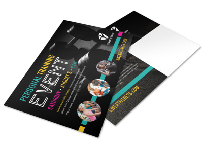 Person Training Event Postcard Template kepwo04xlz preview