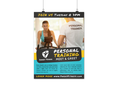 Person Training Event Poster Template uizsi8bd8p preview