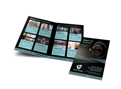 About The Trainers Bi-Fold Brochure Template z0y597ymos preview