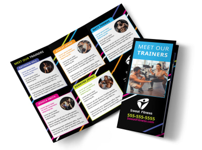 About The Trainers Tri-Fold Brochure Template kusq6ptw46 preview