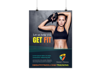 Personal Training Services Poster Template g9cc95mbhw preview