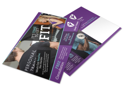 Personal Training Services Offered Postcard Template 9ztej0mtqd preview