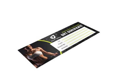 Personal Trainer Gift Certificate Template sdt7efak34 preview