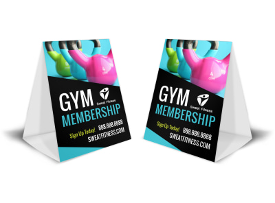 Gym Promo Table Tent Template bcpozadlch preview