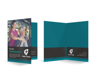 Fitness Membership Detail Bi-Fold Pocket Folder Template o9b3uoomwl preview