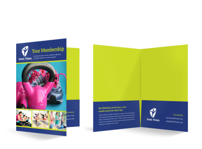 Fitness Membership Detail Bi-Fold Pocket Folder Template 9uh4uqepgs preview