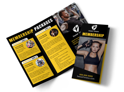 Fitness Membership Detail Tri-Fold Brochure Template ahmq4zlytx preview