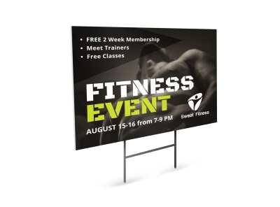 Fitness Event Yard Sign Template 5xfupaoibh preview