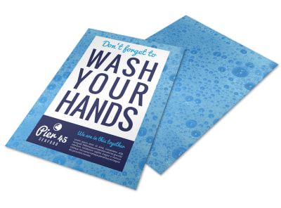 Wash Your Hands Flyer Template hq6gd2d8zf preview
