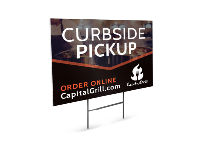 Curbside Pickup Yard Sign Template hz46r32lt7 preview