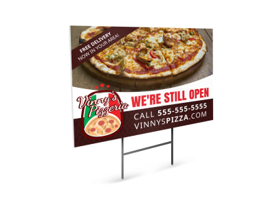 We're Still Open Yard Sign Template pqrwxw9d97 preview