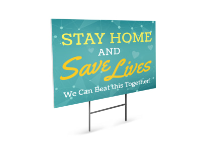 Stay At Home Yard Sign Template 15mzrltn06 preview