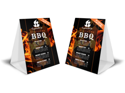 BBQ Restaurant Table Tent Template 1zgzj0r31h preview