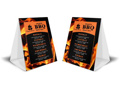 BBQ Restaurant Table Tent Template 0nfc3d841x preview