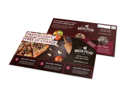 Delivery Service Restaurant EDDM Postcard Template u0hwmmo2nn preview