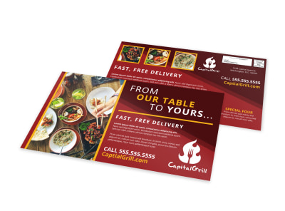 Delivery Service Restaurant EDDM Postcard Template yq5gbhi3b2 preview