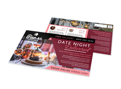 Delivery Service Restaurant EDDM Postcard Template 4p27muo7za preview