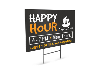 Happy Hour Restaurant Yard Sign Template rayc4adh6b preview