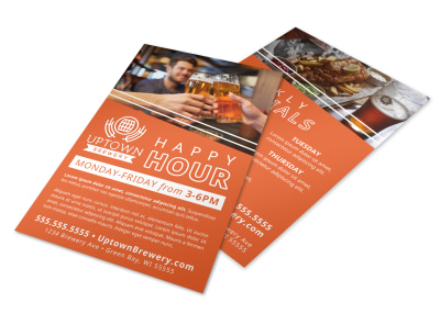 Happy Hour Restaurant Flyer Template gw9ktp3hj6 preview