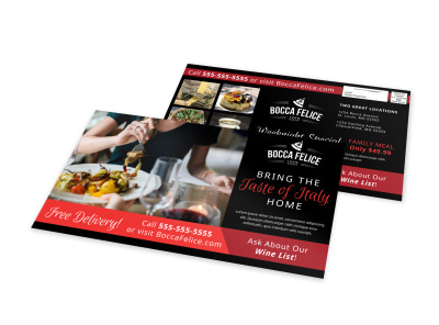 Italian Restaurant EDDM Postcard Template 3zx18p6067 preview