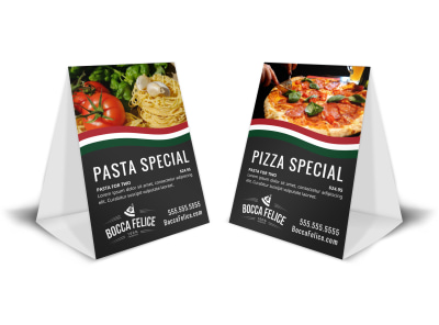 Italian Restaurant Table Tent Template 99emztkoq7 preview