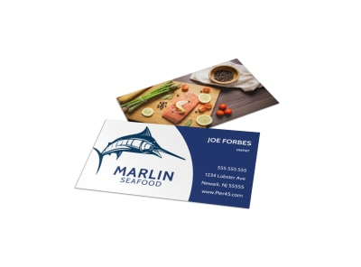 Seafood Restaurant Business Card Template hawkv4rllr preview