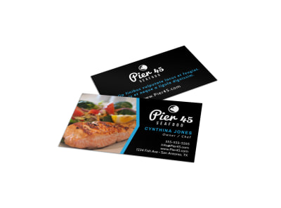 Seafood Restaurant Business Card Template 8ihknikeay preview