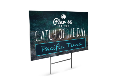 Seafood Restaurant Yard Sign Template j653mzsgp2 preview