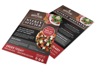 Restaurant Specials Flyer Template nige04v1fh preview