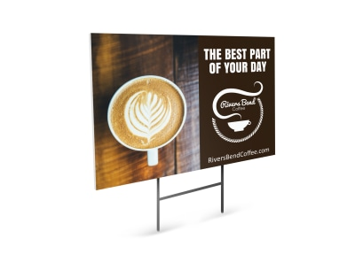 Coffee Shop Yard Sign Template ccdbtxr1lu preview