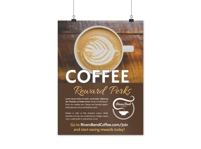 Rewards Program Coffee Shop Poster Template cok9e1in26 preview