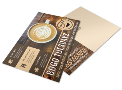 BOGO Coffee Shop Postcard Template m4pvemcc2b preview