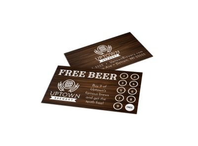 Brewery Loyalty Card Template hjit7272dy preview