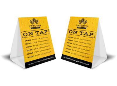 Drink List Beer Table Tent Template bob4tmfu6k preview