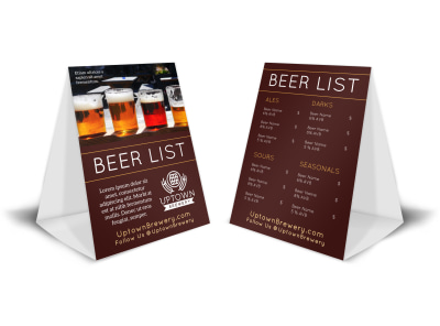 Drink List Beer Table Tent Template jddds3is6p preview
