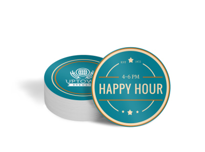 Happy Hour Bar Coaster Template h9rji05i5i preview