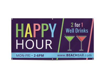 Happy Hour Bar Banner Template qt2azzie93 preview