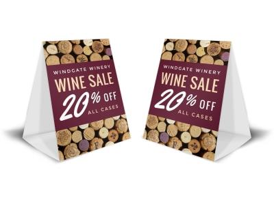 Wine Sale Table Tent Template bqxd2tri4e preview