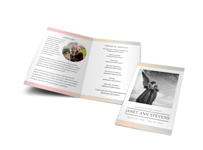 Obituary Funeral Bi-Fold Brochure Template vcx2ye9d94 preview
