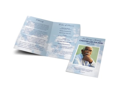 Obituary Funeral Bi-Fold Brochure Template 8q79fpzer0 preview