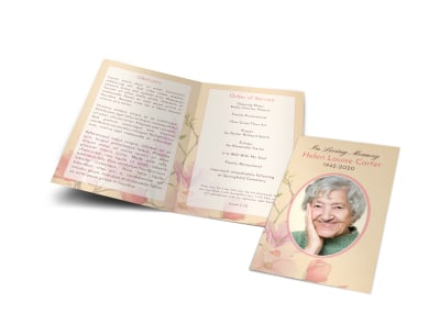 Memorial Service Funeral Bi-Fold Program Template wj3sni67vj preview