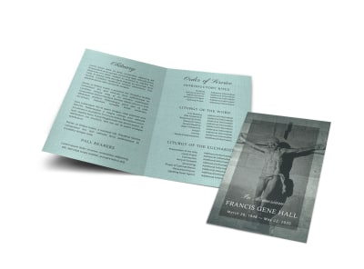 Memorial Service Funeral Bi-Fold Program Template kyvegxmux9 preview