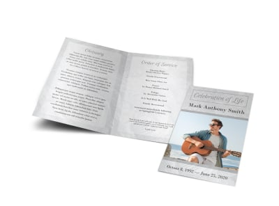 Celebration of Life Funeral Bi-Fold Brochure Template ghpjilieop preview