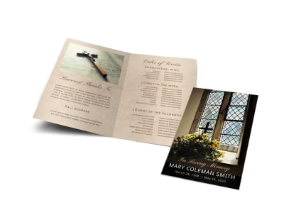 Catholic Funeral Program Template ranvccil55 preview