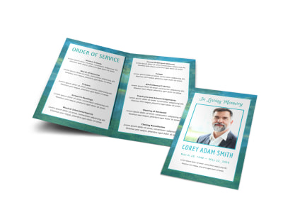 Order of Service Funeral Bi-Fold Program Template at77e48iy1 preview
