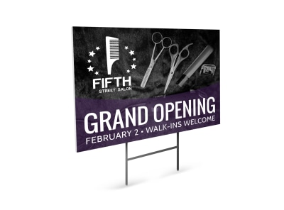 Hair Salon Grand Opening Yard Sign Template kfflljaf7c preview